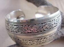 Tibetan Silber Damen Armband Armreifen Carved regulierbar Schmuck NEU TA01