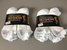 NWT Bulk Men's Burlington No Show Socks Size Large White / Grey 20 Pair #674Z