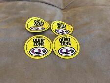 "Q Plus ""Enter The Quiet Zone"" Advertising Decal Sign Meyercord oil vtg Lot of 4"