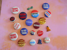 20 Piece Collection of Political Campaign Buttons/Pins