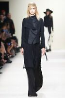 ANN DEMEULEMEESTER Spring 2012 Black Wool Double Button Waistcoat Jacket 38 US 2