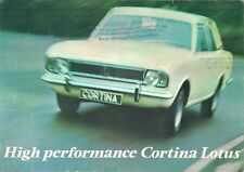 Ford Cortina Lotus Mk2 1967-68 UK Market Foldout Sales Brochure