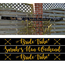 BRIDE TRIBE BANNER - Personalised Hen Night Banner Decoration 2.5m long