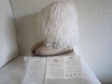 Ugg Australia Sheepskin Mongolian Tall  Cuff Boots Sz 5 Sand /Tan #3166