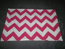 Pottery Barn Teen Standard Pillow Case Pink White Chevron Zig Zag Gingham