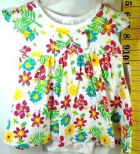 1 piece White Floral Dress Girls 6/9 months  New Snap Crotch