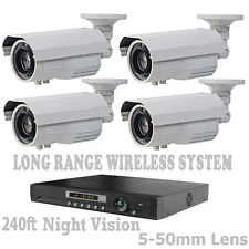 LONG RANGE WIRELESS TRANSMIT UP TO 6500 FT Security Cameras Night Vision W/ DVR