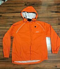 Asics Full Zip Running Jacket Rain Water Proof Removable Hood 3M Large.