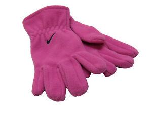New NIKE Girls Fleece GLOVES  Pink Medium Age 9-10 Years