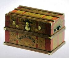 Dollhouse Miniature Trunk Kit -- Lithograph Doll's Trunk Style -- 1:12 Scale