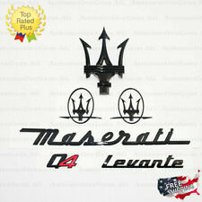 Maserati Emblem Levante Q4 Grille Trident Side Logo Black Badge Set Sticker Kit