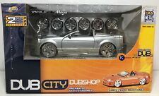 JADA DUB CITY DUBSHOP DIECAST MODEL KIT 2002 FORD MUSTANG SILVER 1:24 SCALE