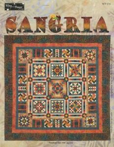 """Sangria Block of the Month from Wing and a Prayer 105"""" x 105"""""""