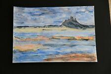 New Bamburgh Castle Northumberlan watercolour 21cm x 30cm unmounted unframed