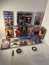Lot Of 17 PSP UMD Movies With Cases Terminator Godzilla Elektra + Many More!