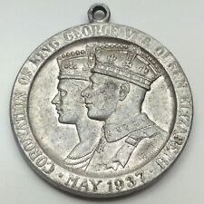 1937 Long May They Reign Coronation King George VI Elizabeth Pendant D428