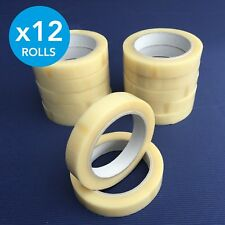 12 x Clear Rolls Premium Quality Vinyl Parcel Packing Tape Sellotape 19mm x 66m