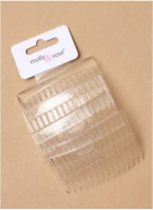 CLEAR HAIR COMBS HAIR SLIDES PLASTIC NEW PACK OF 4
