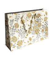 Bolsa de Regalo Grande Estampado 'Bouquet Plateado' -  Silver Bouquet Gift Bag