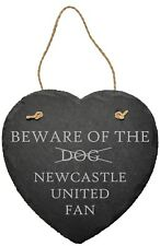 PERSONALISED BEWARE OF THE FOOTBALL FAN SLATE PLAQUE SIGN FUN DAD CAVE SHED GIFT