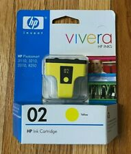 HP Vivera Ink C8773WN Yellow 02 Ink Cartridge Photosmart 3110, 3210, 3310, 8250