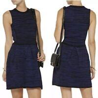 WGB By Walter Baker Womens Size Medium M Blue Black Heavy Knit Sleeveless Dress