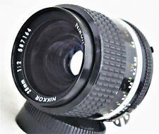 Nikon Nikkor 28mm f/2 MF Ai-s Lens Excellent No. 587164