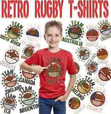 T-shirt Bambini Squadra Rugby World Cup 2019 Galles Inghilterra Irlanda Scozia Francia