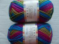 Herrschners Fashion Yarn 2-ply, Boho Chic, lot of 2 (200 yds each)