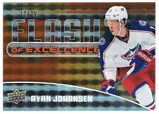 2014-15 UPPER DECK UD OVERTIME FLASH OF EXCELLENCE ORANGE FOE-7 RYAN JOHANSEN 25