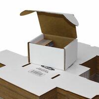 (50) BCW 330 Count White Corrugated Cardboard Baseball Trading Card Storage Box