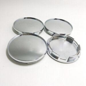 4x 68mm Chrome No Logo Auto Car Wheel Hub Center Cap Cover Set Car Accessories
