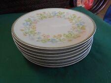 "Beautiful NORITAKE ""Essence"" Set of 7 DESSERT-BREAD Plates..6.25"" diameter"