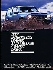 1984 Jeep Original Car Brochure - Grand Wagoneer Cherokee CJ-7 AMC Eagle J-10