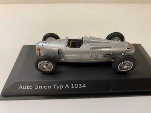 Audi Auto Union Typ A 1934 silber 1/43 1:43 Modell Modellauto