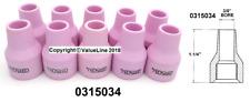 """PK 10 Tazas de gas de cerámica InterLas genuina orificio de 3/8"""" X 1.14"""" - 0315034"""
