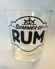 Summer of RUM Large SHOT GLASS Nautical Boat Anchor Helm Captain Alchol Gift