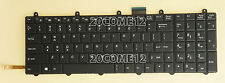 NEW For Clevo P150SM P157SM P170SM Keyboard Backlit US WIN KEY Bottom Left