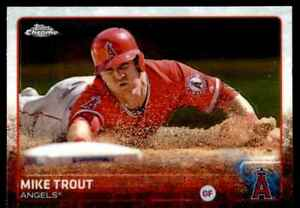 Mike Trout 2015 Topps Chrome #51 A