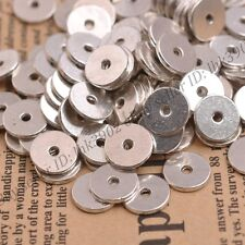 20/50/100Pcs Antique Silver Plane Ring Spacer Beads Findings 10MM Metal C DB3079