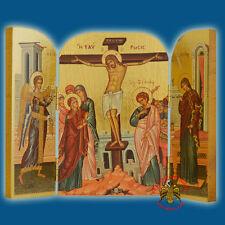 Icona ortodossa russa Santissima Trinità di Andrej Rublev 21,5x18