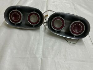 1960 Cadillac Rear Tail Lights Stainless Housing Back Taillights Brake Lamp