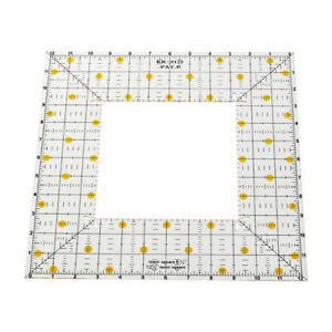 Square Patchwork Ruler Acrylic Sewing Quilting Ruler Templates Tool Square inch