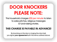 Door Knockers Warning Sign METAL WALL SIGN PLAQUE funny  poster print - A5 size