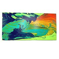 Morden Abstract Acrylic Painted Canvas by MARS 10x20 One of One Painting