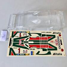 RC Car Karosserie Lancia Statos Alitalia 1:10 unlackiert mit Dekorbogen schmal p