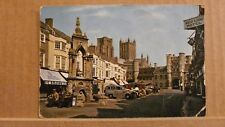 Postcard posted 1970 Somerset, Wells, market place