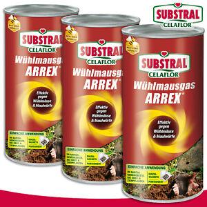 Substral Celaflor 3x 250g Vole Arrex Vergrämer Control Garden Protection