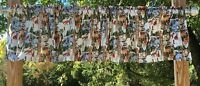 Christmas Wintertime Wildlife Deer Fox Owl Birds Handcrafted Curtain Valance NEW