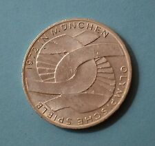 GERMANY - 10 Mark, 1972 D, Munich Olympics, silver coin        [#7045]